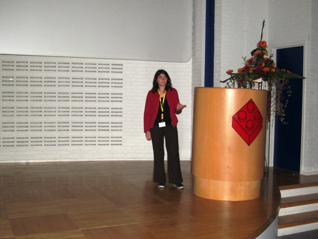 Mor presenting her thesis project; COST MPN&MNPr-EuroNet Workshop, October 2012, Billund, Denmark
