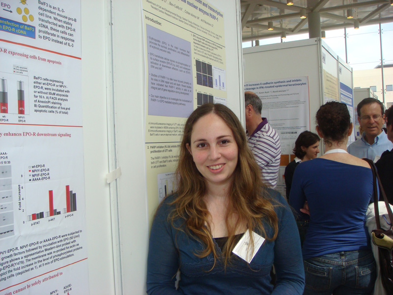 Dana Inbar at the 2009 TAU research fair