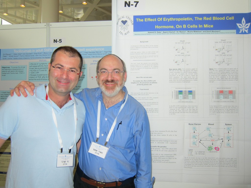 Nir and Howie – our two clinicians – Research fair 2014