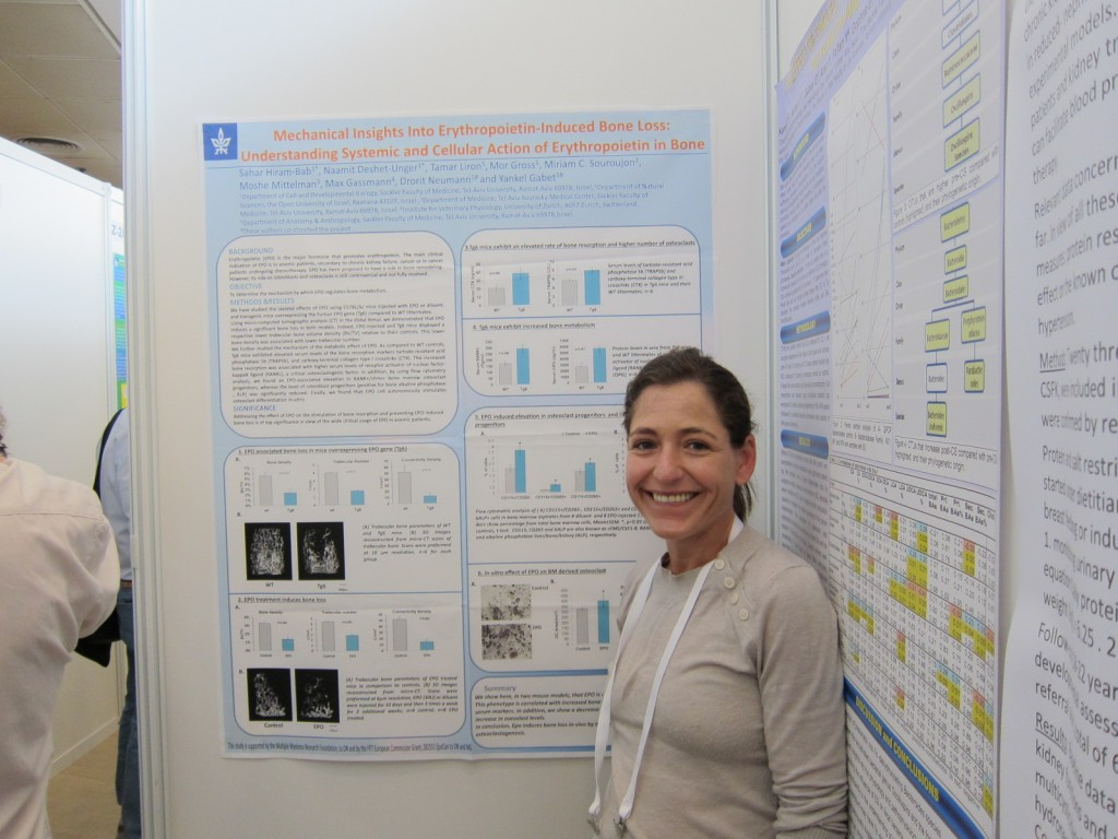Sahar at her poster Research fair 2014